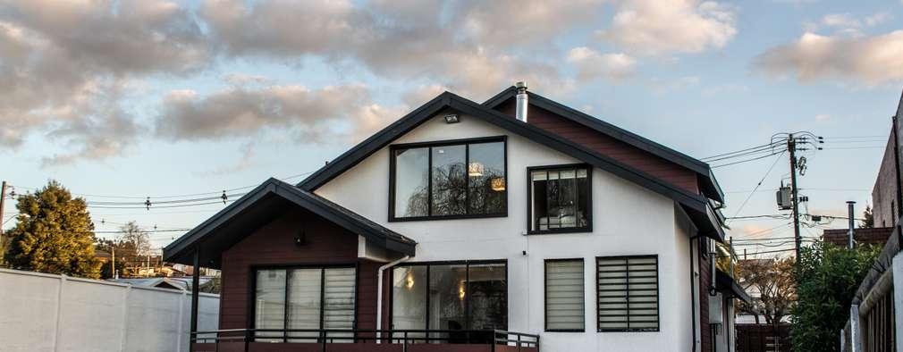 7 casas de cemento y madera que te dejan con la boca abierta for Casas de cemento