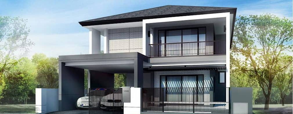 4 beautiful two storey homes plus their plans for Beautiful double story houses