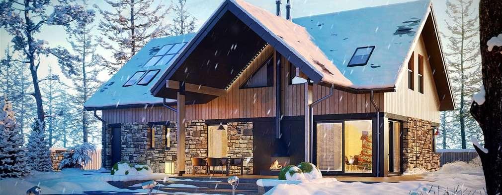Projekt Nikolas G1 - nowoczesny dom, który zachwyca!: styl nowoczesne, w kategorii Domy zaprojektowany przez Pracownia Projektowa ARCHIPELAG