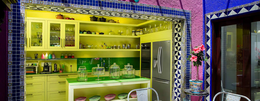 eclectic Kitchen by W Cubed Interior Design