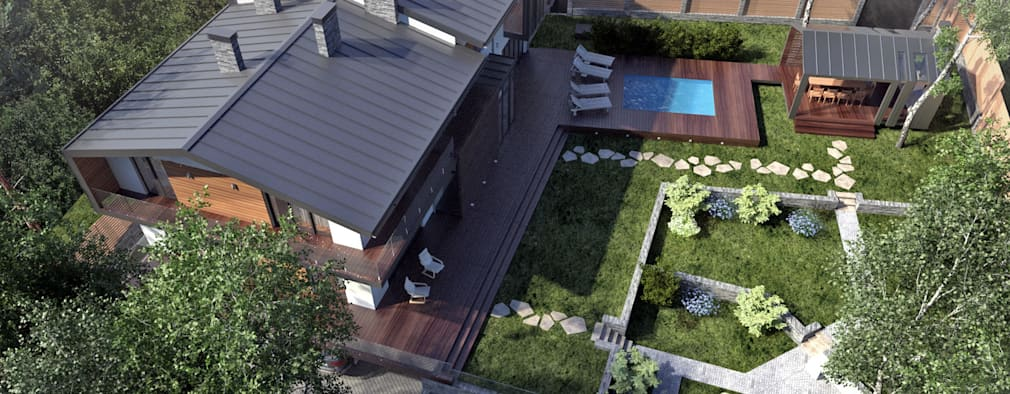 Дом на берегу озера Увильды: Дома в . Автор – Компания архитекторов Латышевых 'Мечты сбываются'