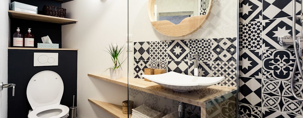 scandinavian Bathroom by MadaM Architecture