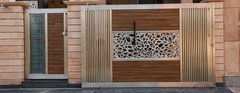 Main Gate Design: modern Houses by RAVI - NUPUR ARCHITECTS