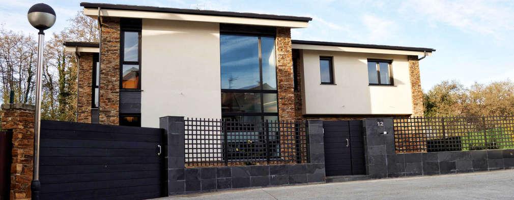Moderna y con piedra una casa en galicia fant stica for Casa moderna galicia