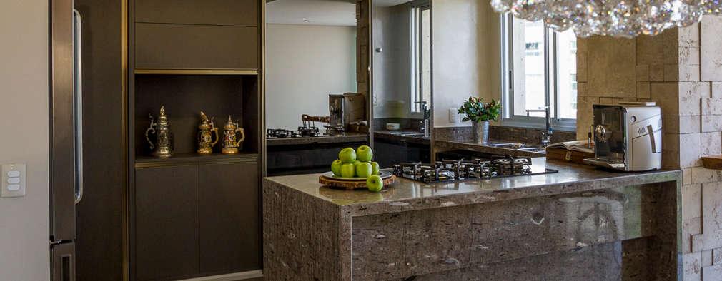 15 cocinas peque as que vas a querer copiar for Cocinas con espejos