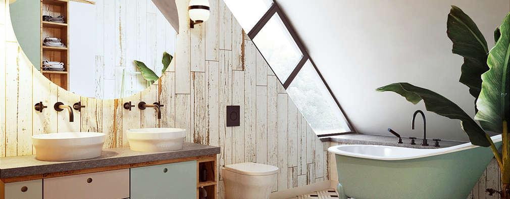 Come realizzare un bellissimo bagno nel sottotetto - Bagno sottotetto ...