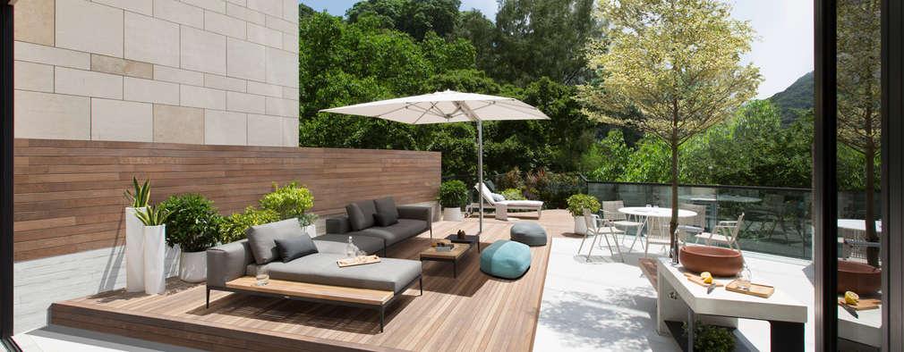 Jump into the Garden: modern Garden by Sensearchitects Limited