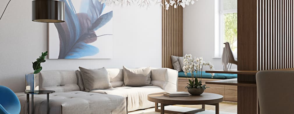 modern Living room by Polygon arch&des
