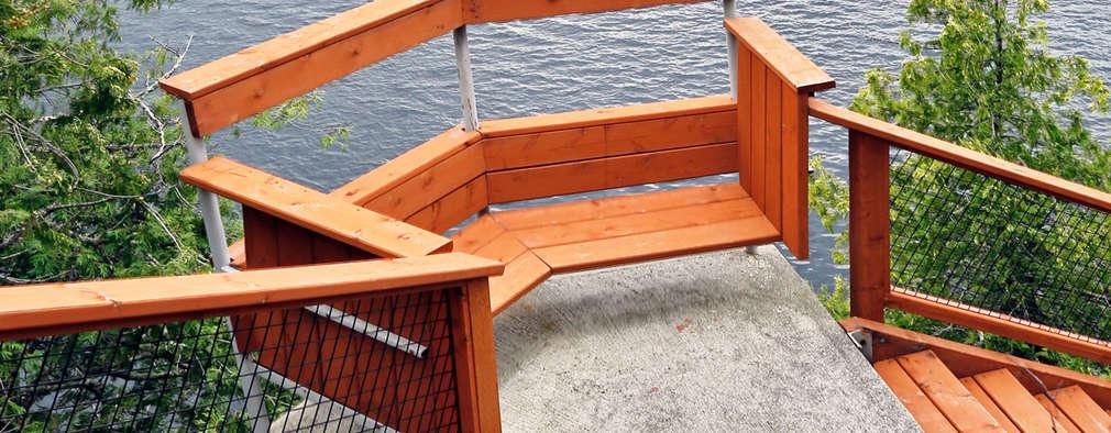 West Hawk Lake Stair case:  Corridor & hallway by Unit 7 Architecture