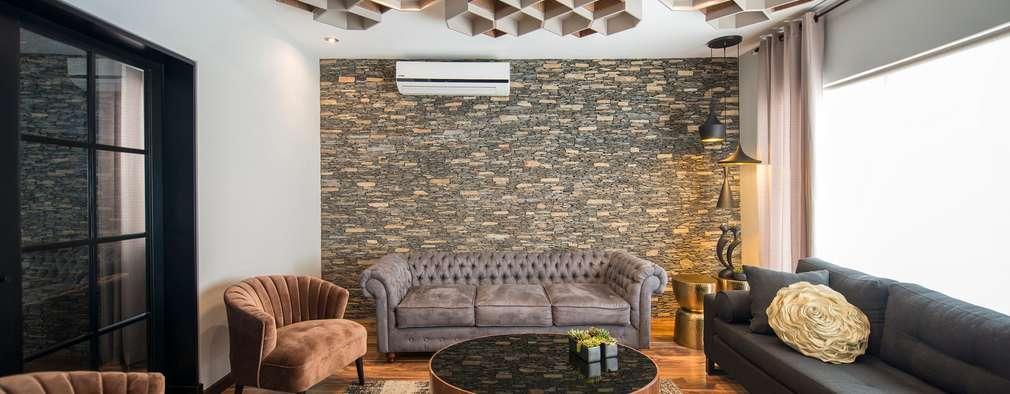 Para tu sal n 16 ideas para revestir las paredes con piedra for Paredes revestidas con ceramicas