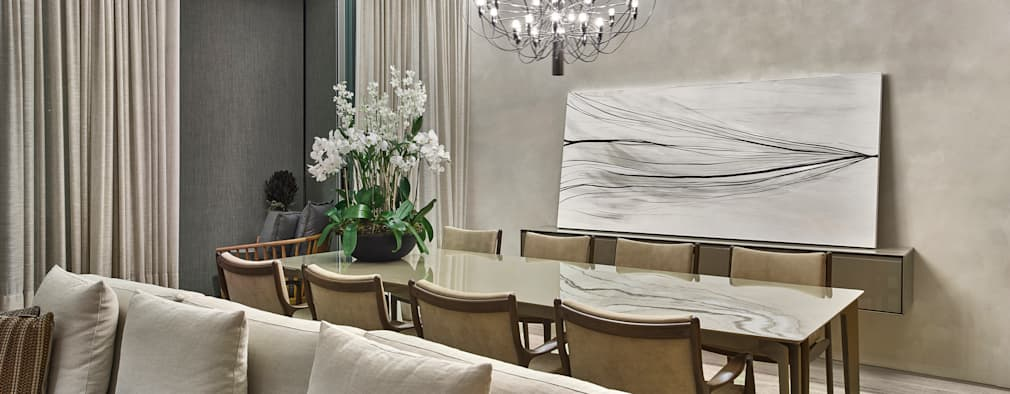 Projekty,  Jadalnia zaprojektowane przez Alessandra Contigli Arquitetura e Interiores