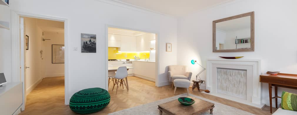Salas de estar ecléticas por Liller Interior