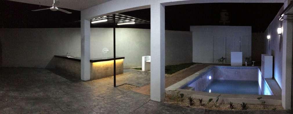 Piscinas de estilo minimalista por Constructora Asvial - Desarrollador Inmobiliario