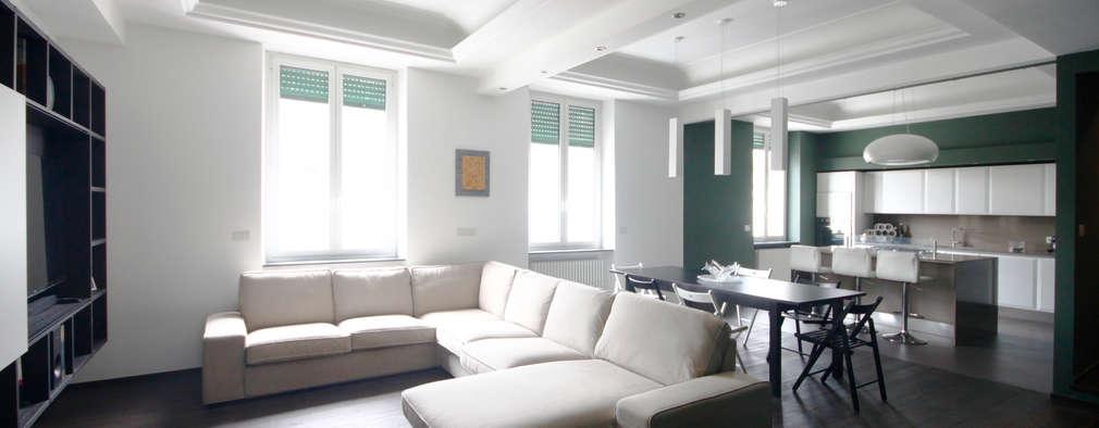 Salas de estilo minimalista por Andrea Orioli