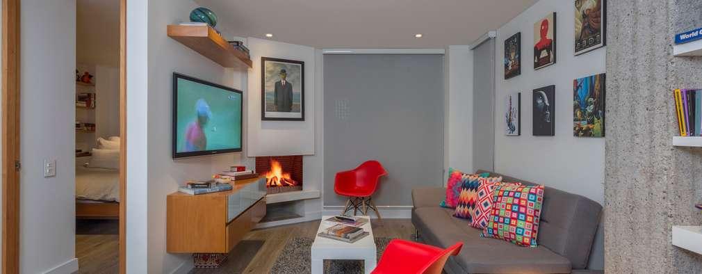 Salas de estilo moderno por Bloque B Arquitectos