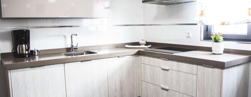10 cocinas espectaculares en forma de l for Cocinas en forma de l