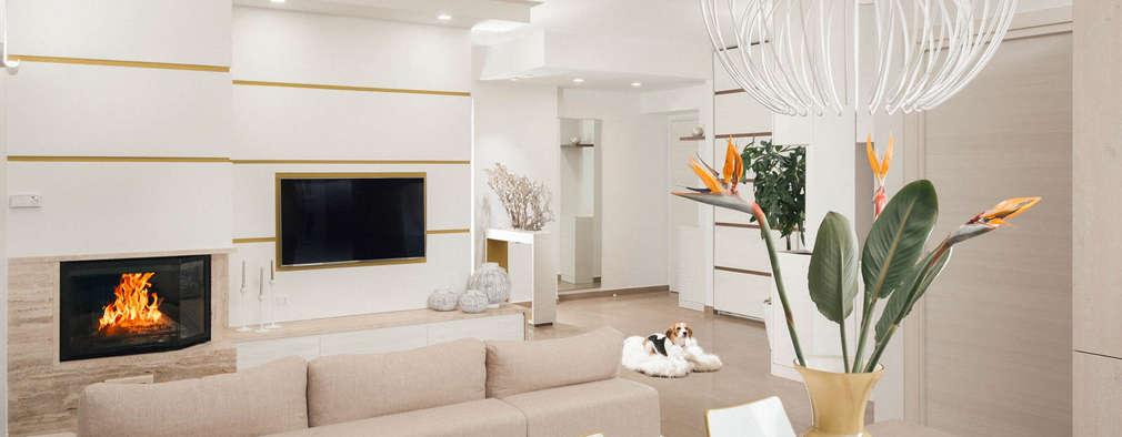 Casa N+V: Sala da pranzo in stile in stile Moderno di manuarino architettura design comunicazione