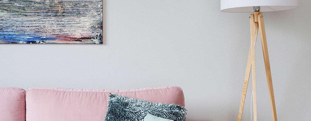 Livings de estilo escandinavo por ZAZA studio