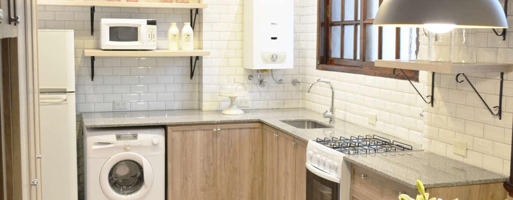11 ideas creativas para integrar la lavander a en la cocina for Planos de cocina y lavanderia