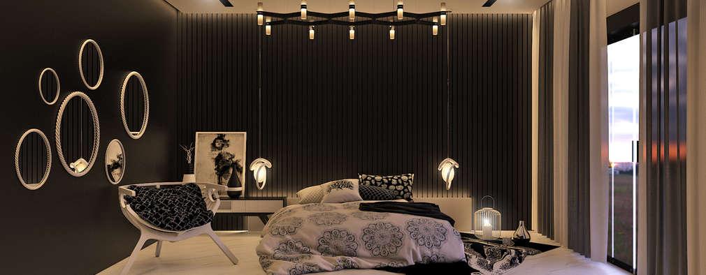 Projekty,  Sypialnia zaprojektowane przez KARU AN ARTIST