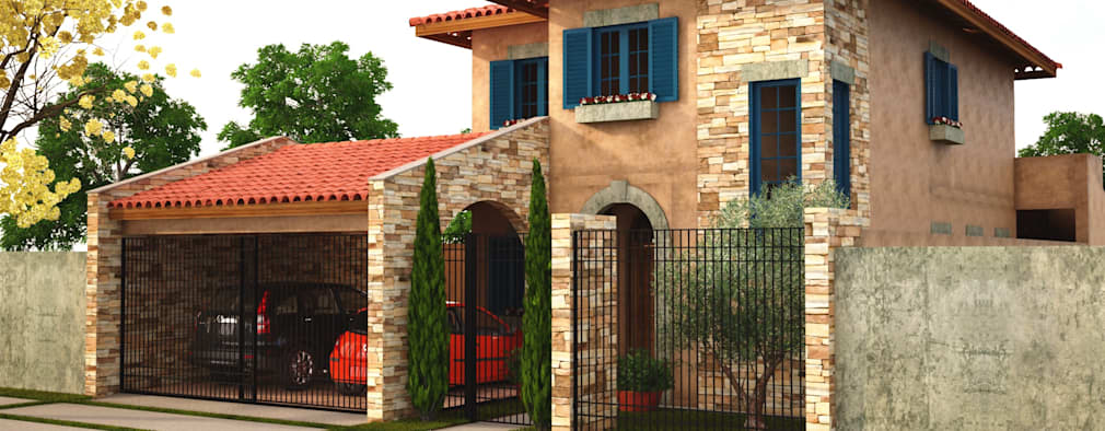 mediterranean Houses by Leonardo Morato Arquitetura