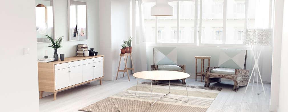 Projekty,  Salon zaprojektowane przez ERC
