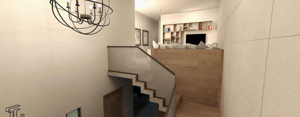 Pasillos y vestíbulos de estilo  de TAMEN arquitectura