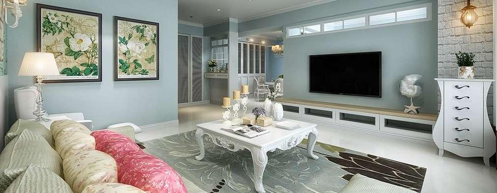 غرفة المعيشة تنفيذ iDiD點一點設計