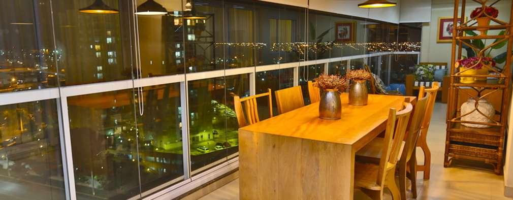 Comedores de estilo rústico por MAJÓ Arquitetura de Interiores