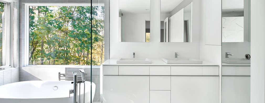 더블 세면대로 기능성을 높인 모던 욕실 디자인 14