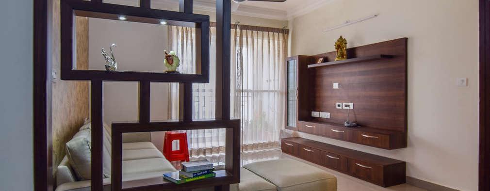 غرفة المعيشة تنفيذ Design Arc Interiors