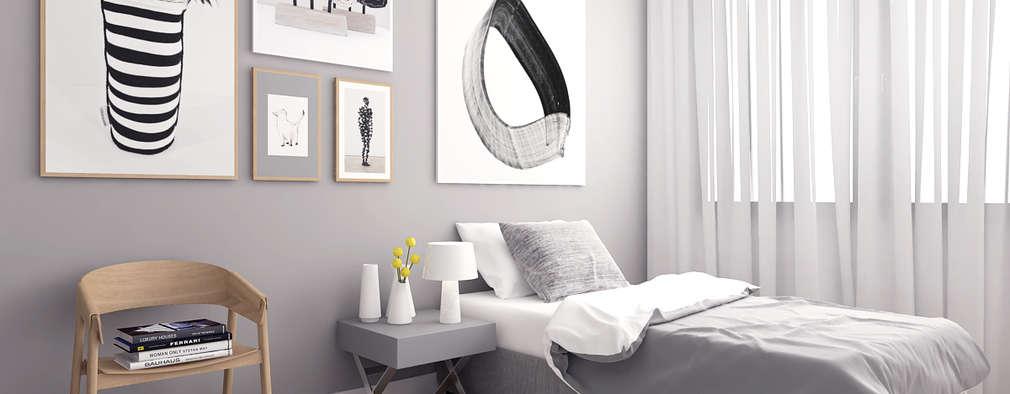 Projekty,  Sypialnia zaprojektowane przez Ammar Bako design studio