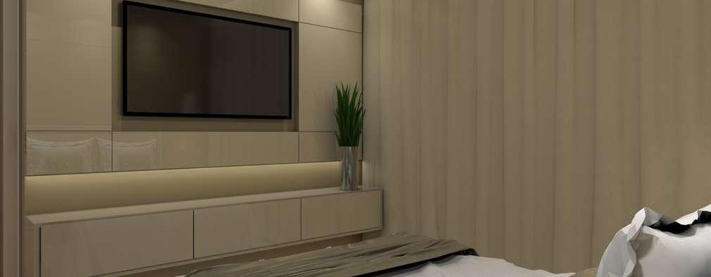 Dormitorios de estilo  por Nayla Diniz Arquitetura