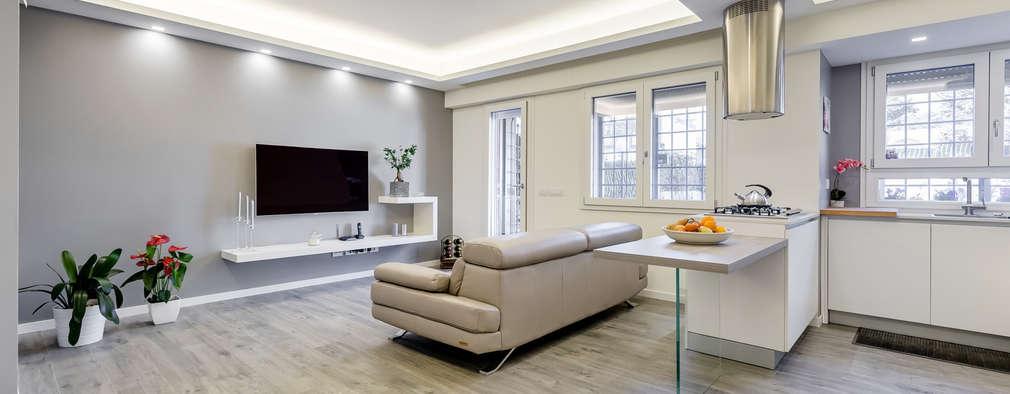 Appartamento moderno che usa il bianco in maniera affascinante for Interni minimalisti