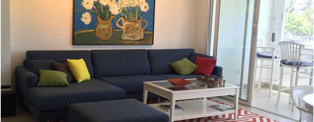 Apartamento en Margarita: Salas / recibidores de estilo moderno por THE muebles