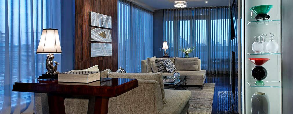 Den: classic Living room by Douglas Design Studio
