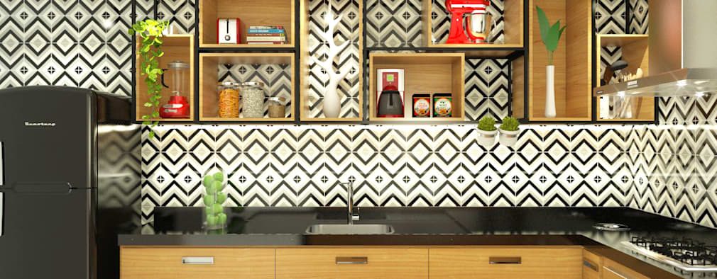 مطبخ تنفيذ Bruna Rodrigues Designer de Interiores