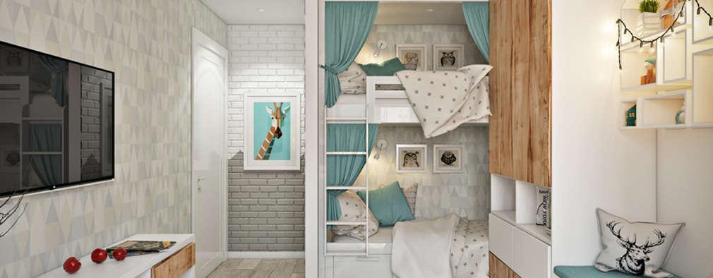 Projekty,  Pokój dziecięcy zaprojektowane przez Дарья Баранович Дизайн Интерьера