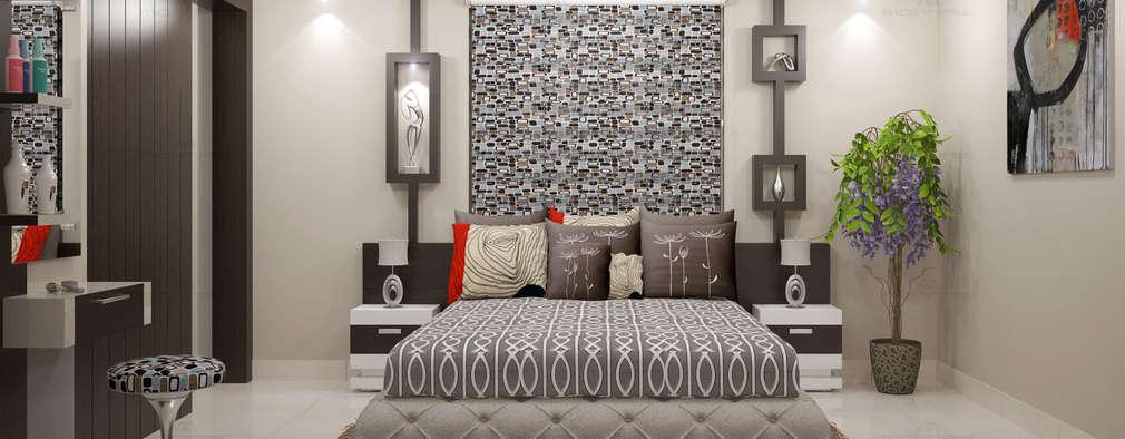 Projekty,  Sypialnia zaprojektowane przez Premdas Krishna