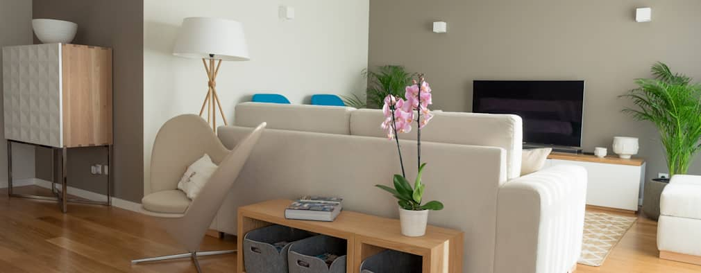 غرفة المعيشة تنفيذ MUDA Home Design