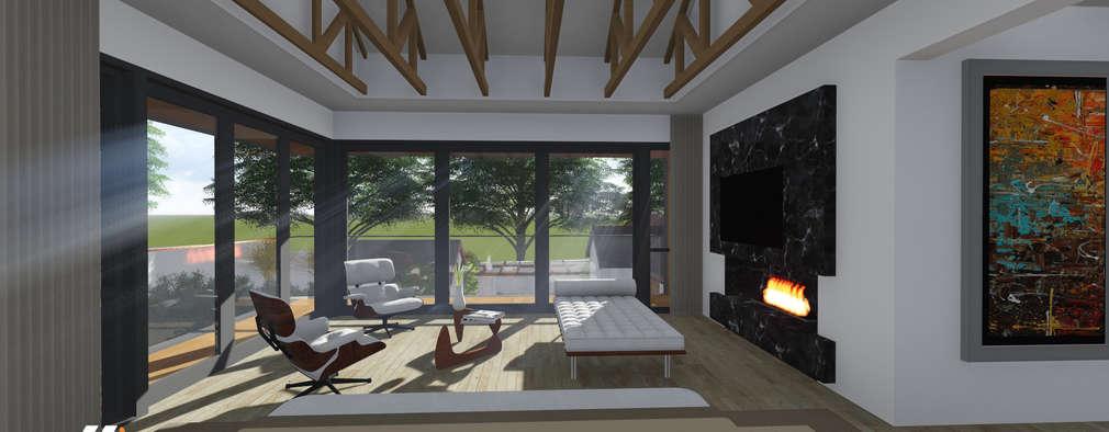 Craighall Park Residence: modern Living room by JLA - Jarrod Len Architecture