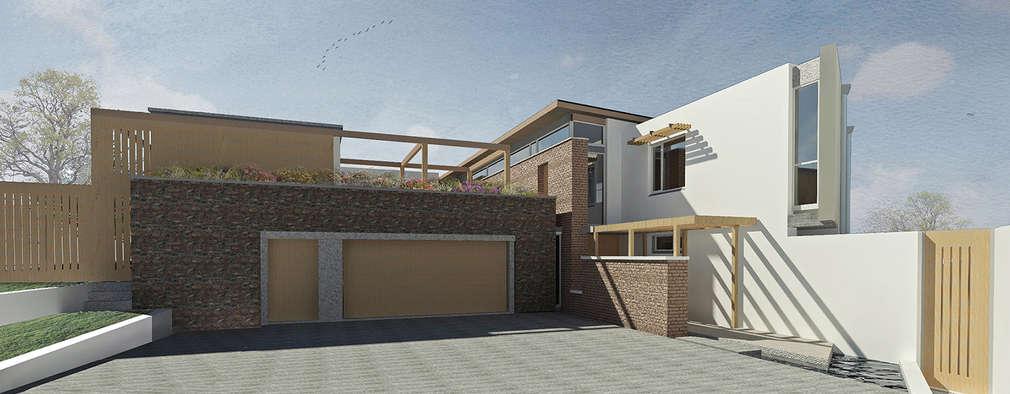 Projekty, nowoczesne Domy zaprojektowane przez Gallagher Lourens Architects