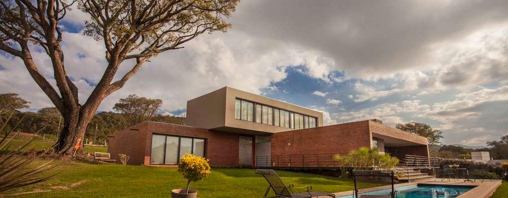 casa finca cuyaya casas de estilo moderno por horizontal arquitectos