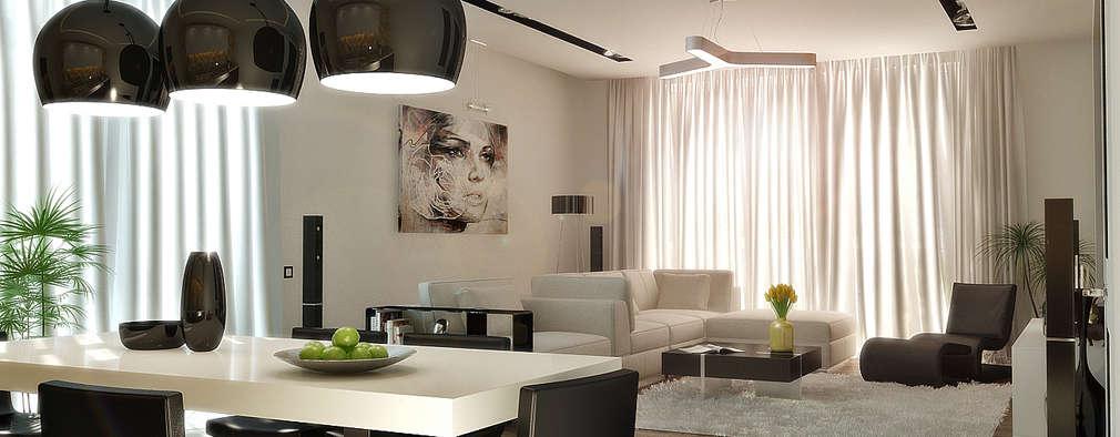 Salas / recibidores de estilo minimalista por metrixdesign