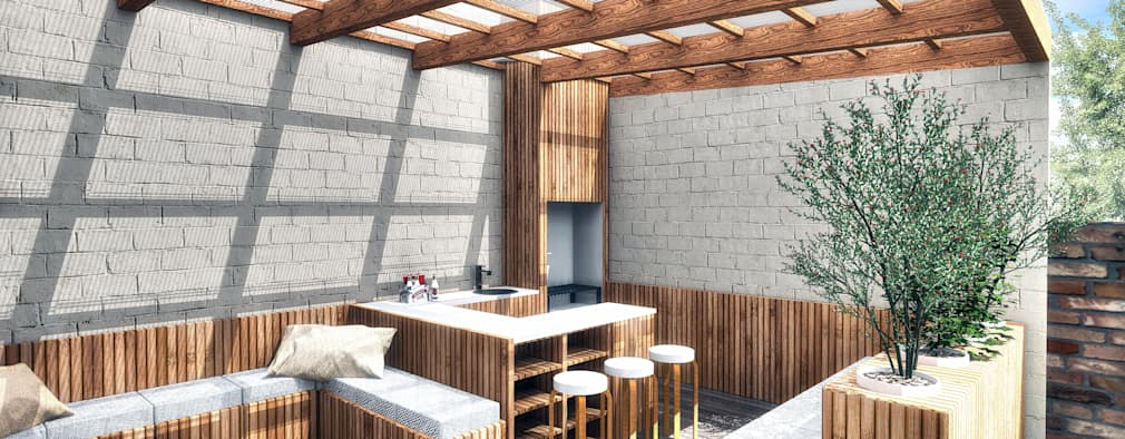 Terrace by NidoSur Arquitectos