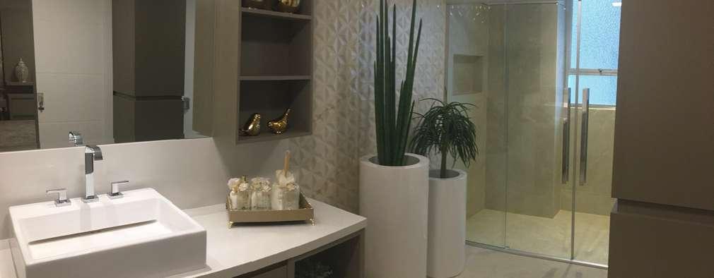 Ванные комнаты в . Автор – KOSH Arquitetura & Interiores