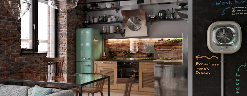 industrial Kitchen by P.R.A.V