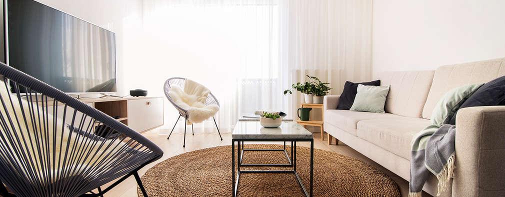 PATIO HOUSE: styl , w kategorii Salon zaprojektowany przez Pracownia projektowa Na Antresoli