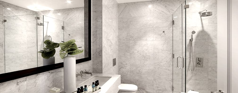 Penthouse Bathroom: modern Bathroom by Joe Ginsberg