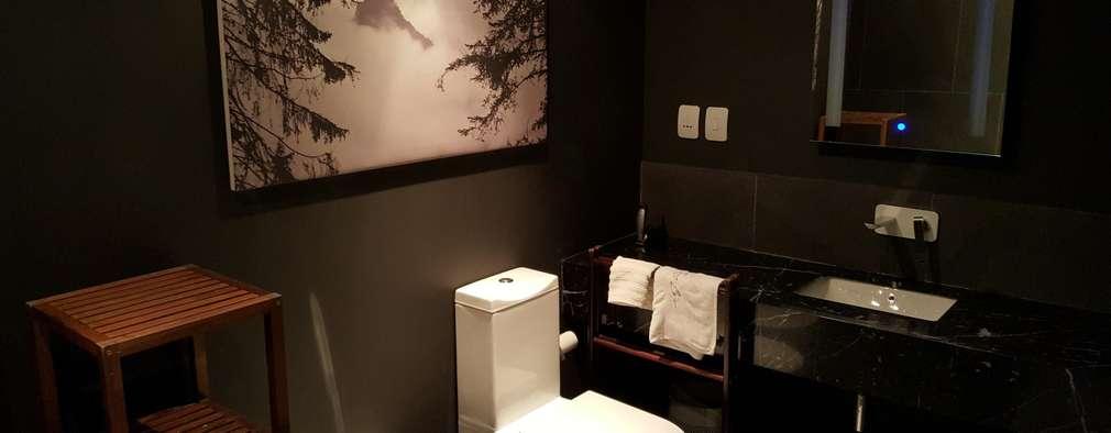 dark bathroom: modern Bathroom by Human Voice Architects